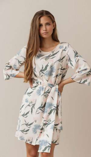 Dry Lake Katie Dress Creme Jungle Print