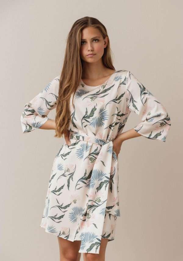 Dry Lake Katie Dress Creme Jungle Print